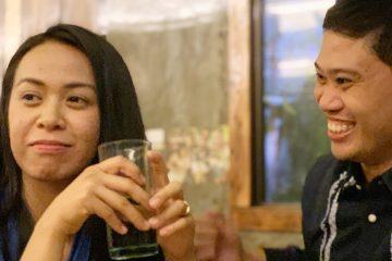 Interview during family dinner. Majal Mirasol and Regine Garcia