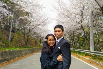Majal and Regine Mirasol Korea 2019 Cherry Blossoms